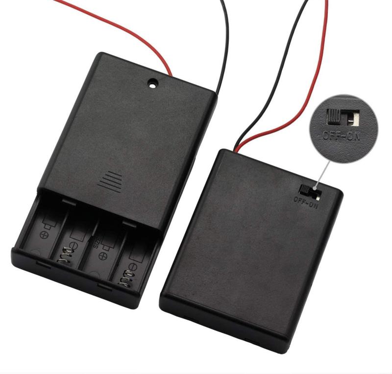 4x AAA batterijhouder met uit/aan schakelaar