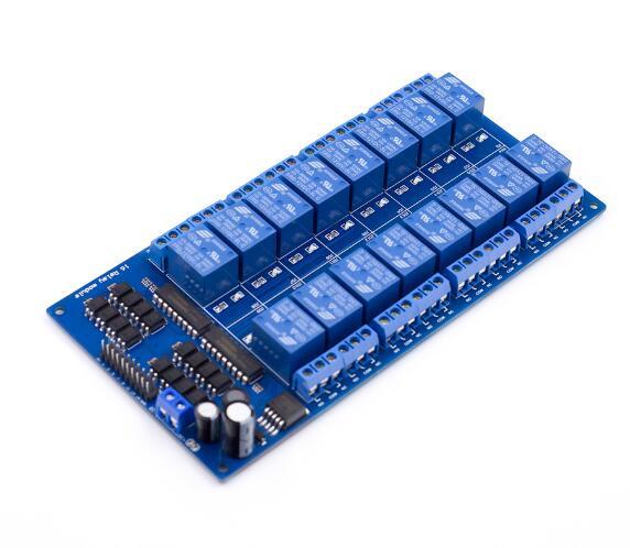 16-kanaals relais module 12V met optocoupler