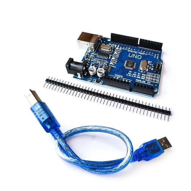UNO R3 Arduino compatible incl. USB kabel en header pins.