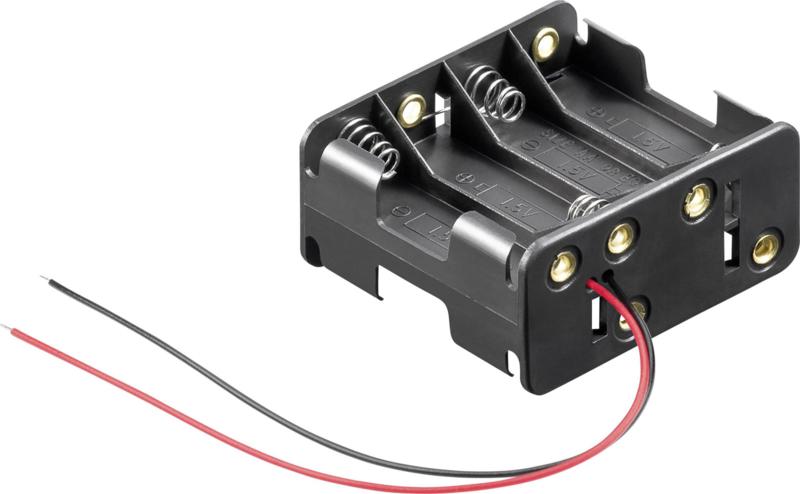 8x AA batterijhouder (Back-To-Back)