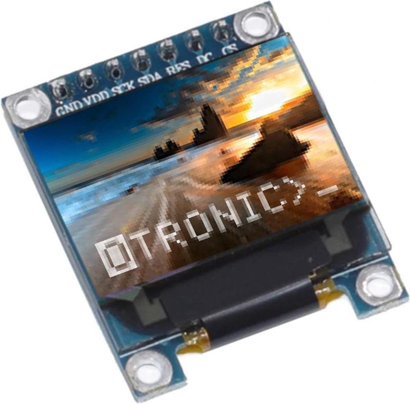 Mini OLED display RGB Full Color 0.95 inch 96x64 pixels SPI