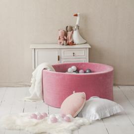 Moje. soft velvet ballenbak roze