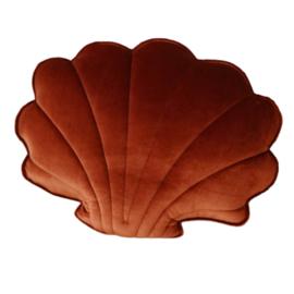 Moi Mili velvet kussen schelp 'copper pearl'