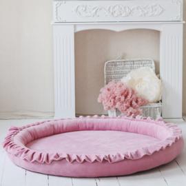 Moje. soft velvet speelkleed roze