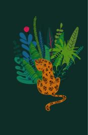 mini kaart jungle, panter 10 stuks