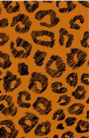 mini kaart jungle, panterprint 10 stuks