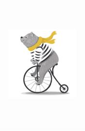 kaart beer, op de fiets 10 stuks