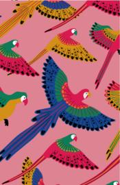 mini kaart jungle, papagaaien 10 stuks