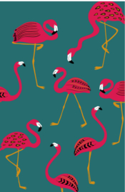 mini kaart jungle, flamingo's 10 stuks
