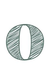 mini kaart sage green, cijfer 0 - 10 stuks