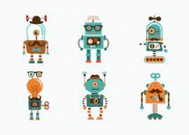 kaart,  robots 10 stuks