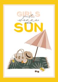 kaart, girl just wanna have sun 10 stuks