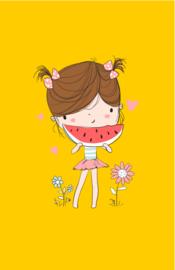mini kaart summergirl, melon 10 stuks