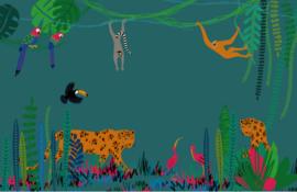 mini kaart, jungle 10 stuks