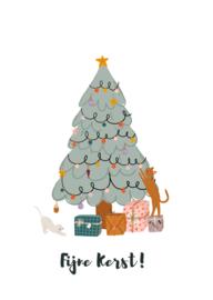 kerstkaart, fijne kerst 10 stuks