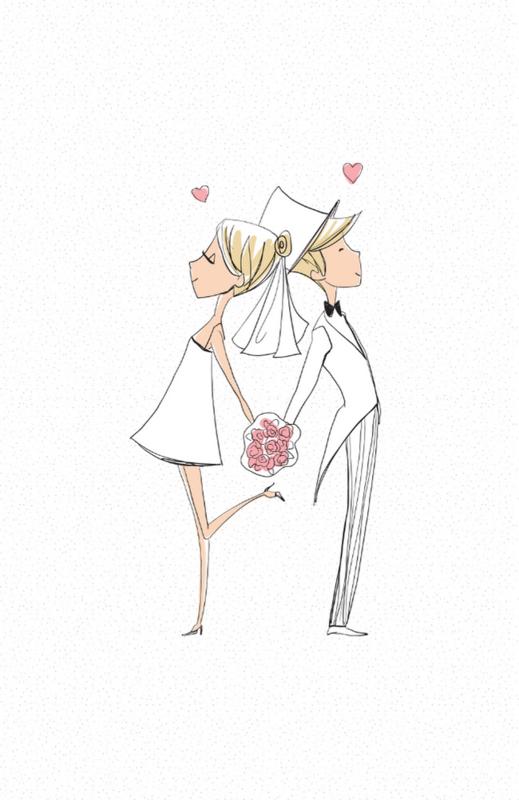 mini kaart huwelijk, just married10 stuks