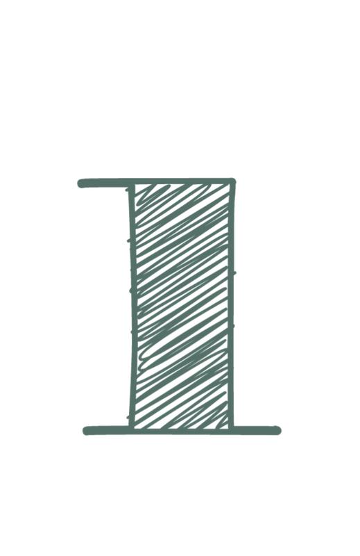 mini kaart sage green, cijfer 1 - 10 stuks