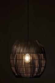 Lampenkap Streep Bamboo Bruin Large