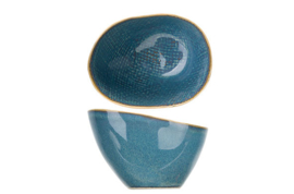 AICHA BLUE KOMMETJE 15X12,5XH7-8,5CM OVAAL