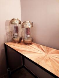Elm brown side table