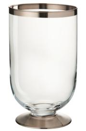Windlicht Glas Transparant/Zilver
