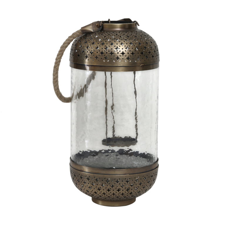 Lisea gold Glass/iron lantern  M