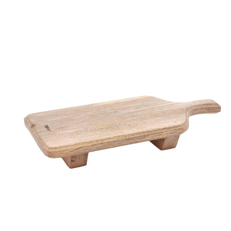 Snijplank Baker hout, rechthoek op voet L