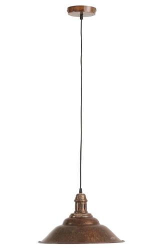 Hanglamp Plat Ijzer Oud Bruin
