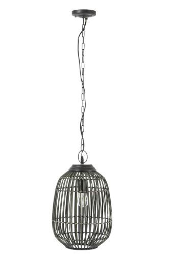 Lamp Hang Spijlen Bamboe Kaki