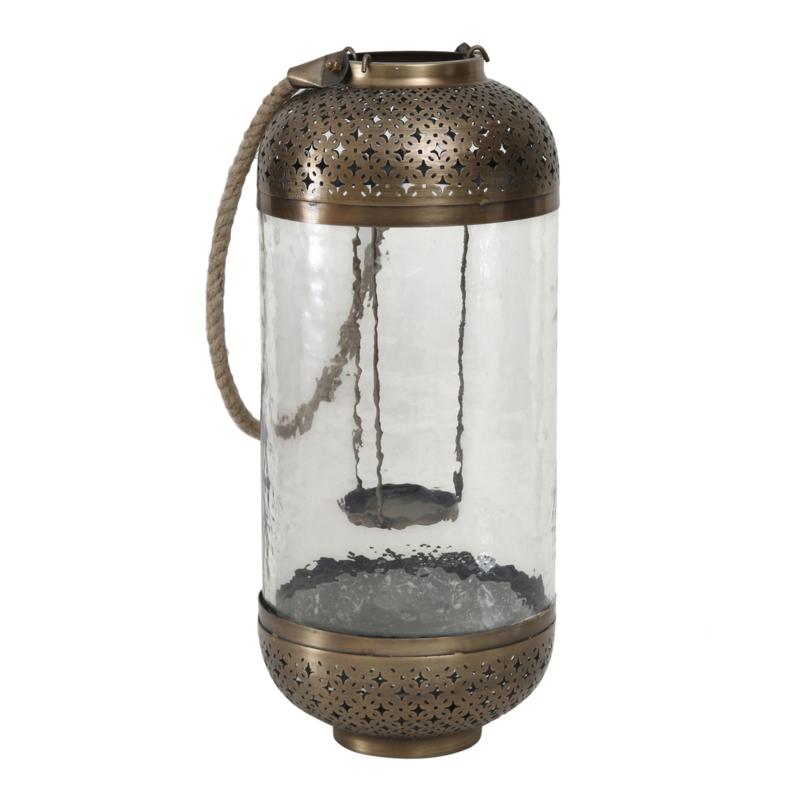 Lisea gold Glass/iron lantern L