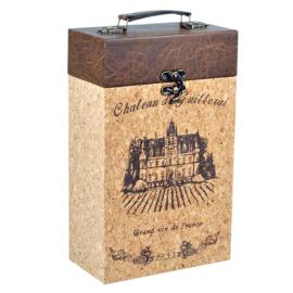 Wijnrek / Wijndecoratie box voor twee flessen wijn.