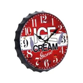 Wandklok ice cream .