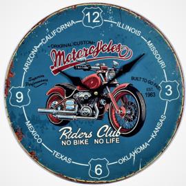 Wandklok motorcycle .