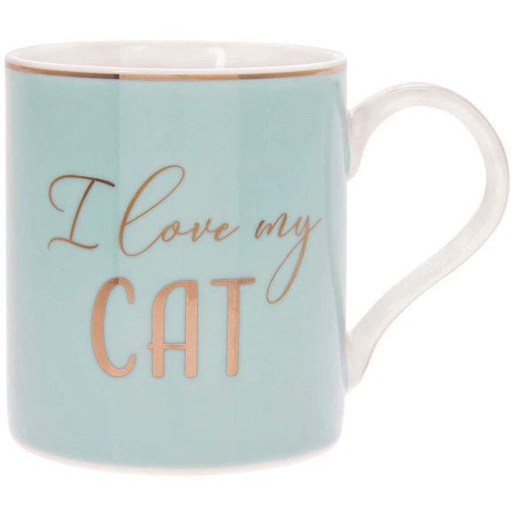 Mok  voor  koffie  - Thee   I LOVE MY CAT