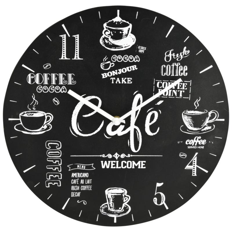 Wandklok landelijk Café