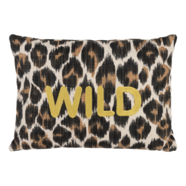 Handmade Pillow Leopard - Personalized Text