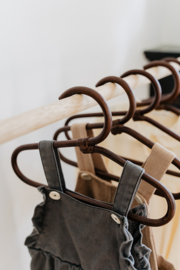Kids Clothes Hanger | Leya Dark Brown | 3 stuks