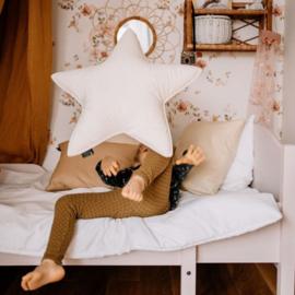 Velvet Star Pillow - Off White