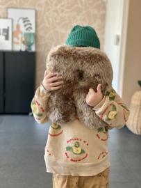 Fake Fur Letter Pillow | 30cm