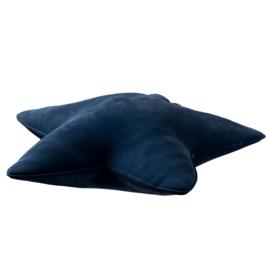 Velvet Star Pillow - Dark Blue