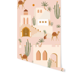Wallpaper - Oasis Pink