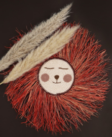 SPECIAL EDITION Lion ♡  Red & Old Pink With Orange Raffia