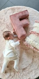 Velvet Letter Pillow | Old Pink