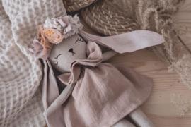 Bunny Linen Dress & Flower headband