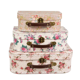 Vintage Roses Suitcase | Set of 3