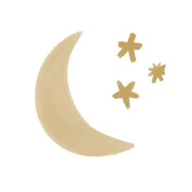Wall sticker - Moon & Stars | Beige