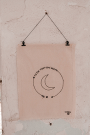 Cotton poster - To the moon and back ☽