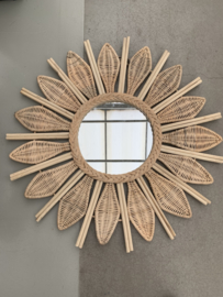 Flower Rotan Mirror