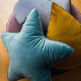 Velvet Star Pillow - Turqoise