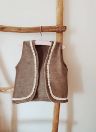 Girls Gilet | Soft Taupe
